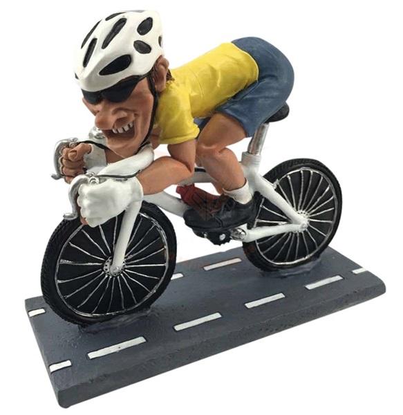 Funny World versenykerékpáros figura, 815-9659