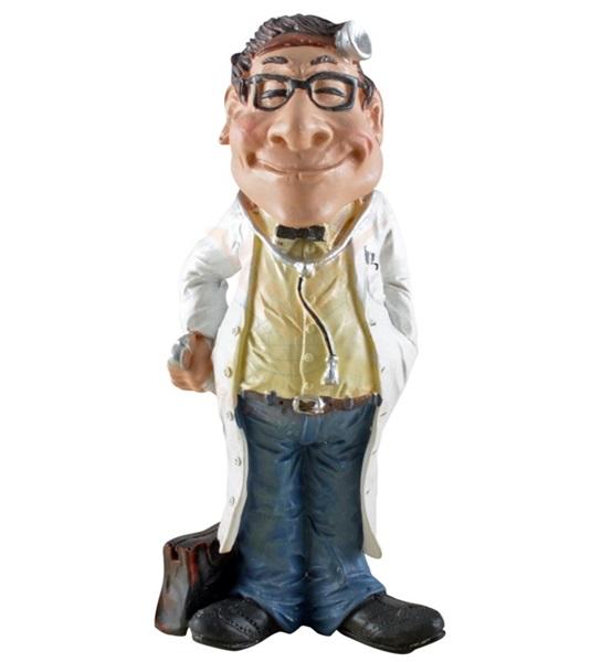 Funny World orvos fejlámpával figura, 815-1022