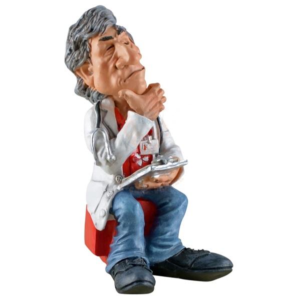 Funny World orvos sztetoszkóppal figura, 815-2029