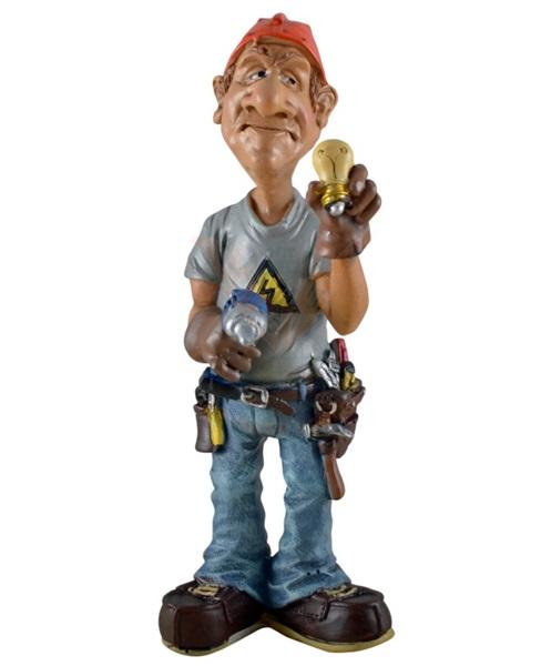 Funny World villanyszerelő figura, 815-2046