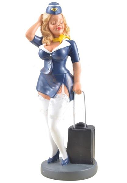 Funny World stewardess figura, 815-3011