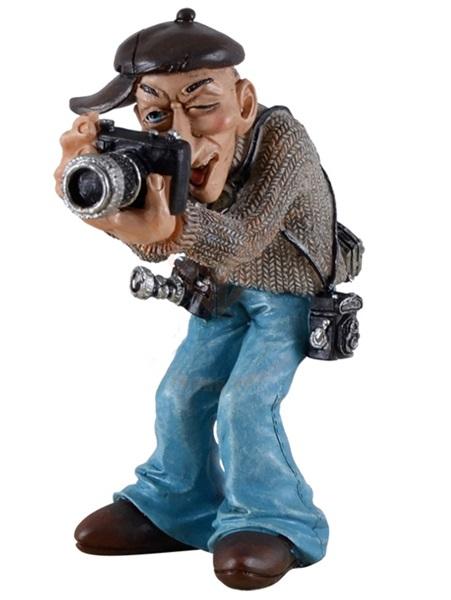 Funny World fényképész modern géppel figura, 815-9156