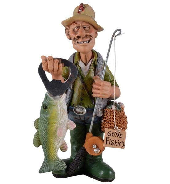 Funny World horgász sörnyitóval figura, 815-9581