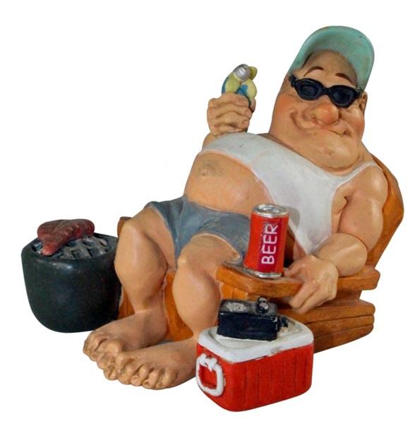 Funny World kempingező családfő figura, 841-811