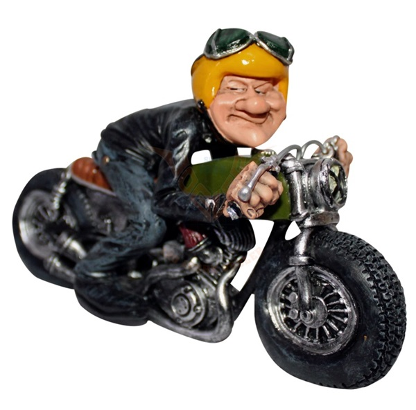 Funny World cafe racer motoros figura, 841-2365