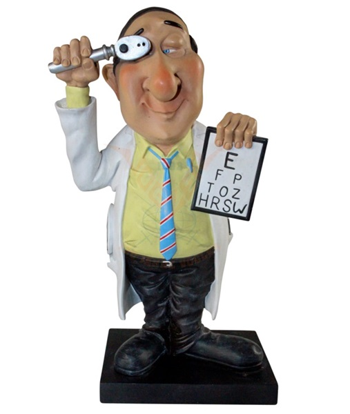Funny World szemész orvos figura, 841-2304