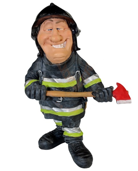 Funny World tűzoltó baltával figura, 841-1040