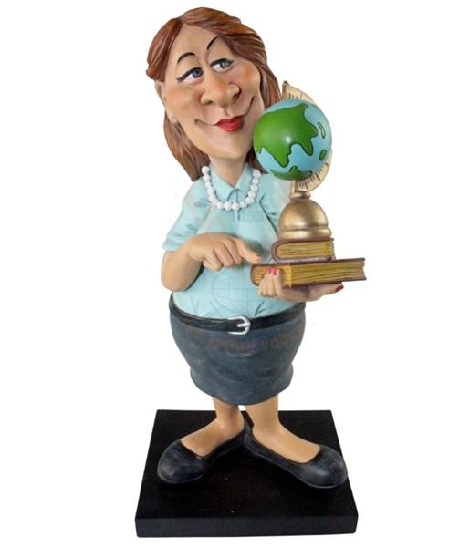Funny World tanárnő földgömbbel figura, 841-2319