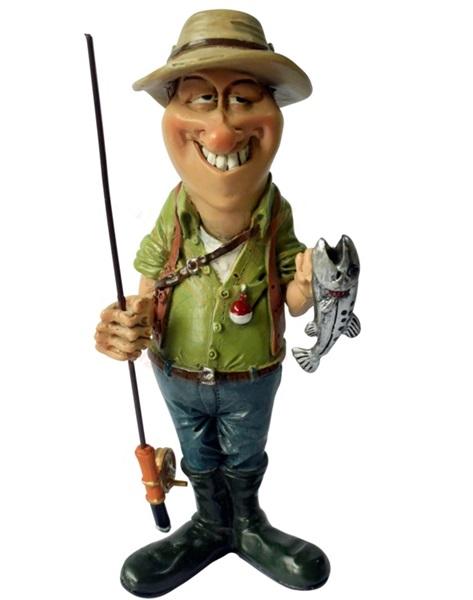 Funny World horgász kis hallal figura, 841-2386