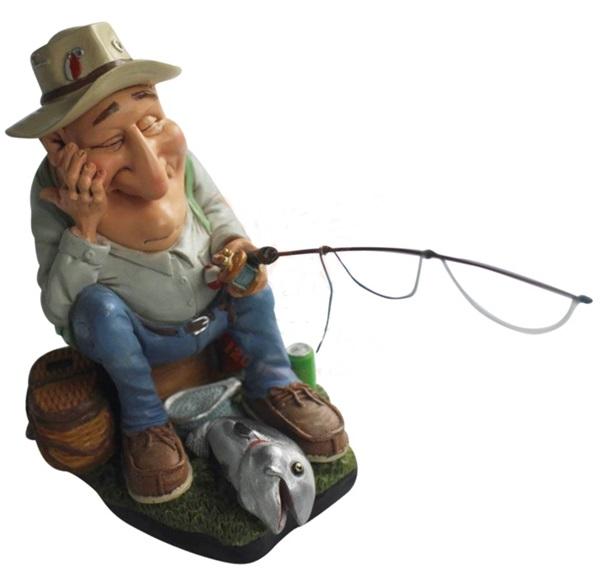 Funny World ülő horgász figura, 841-2320