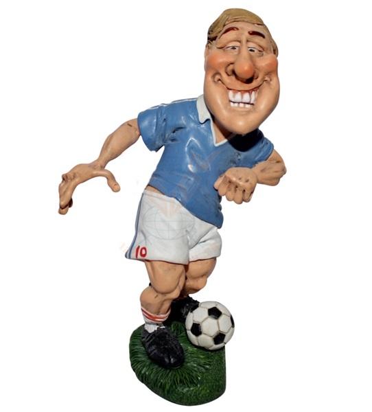 Funny World focista kék mezben figura, 841-2363