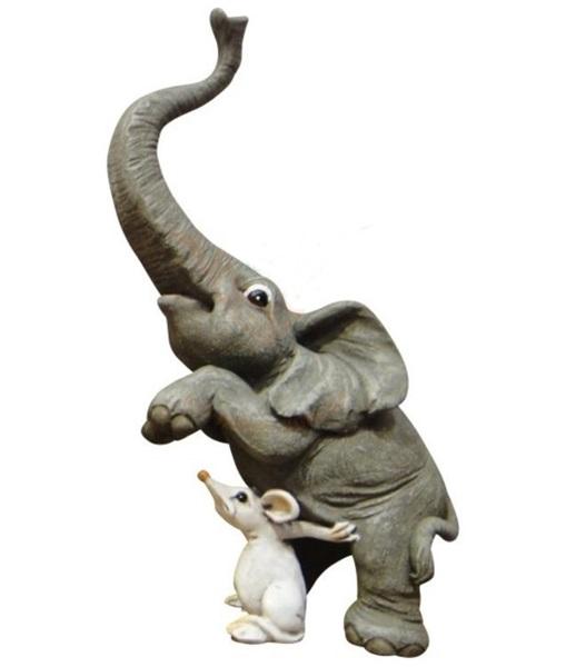 Funny World elefánt kisegérrel figura, 814-9713