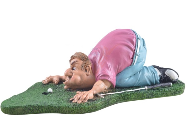 "Funny World golfozó figura, ""Blow for par"", 815-9009"