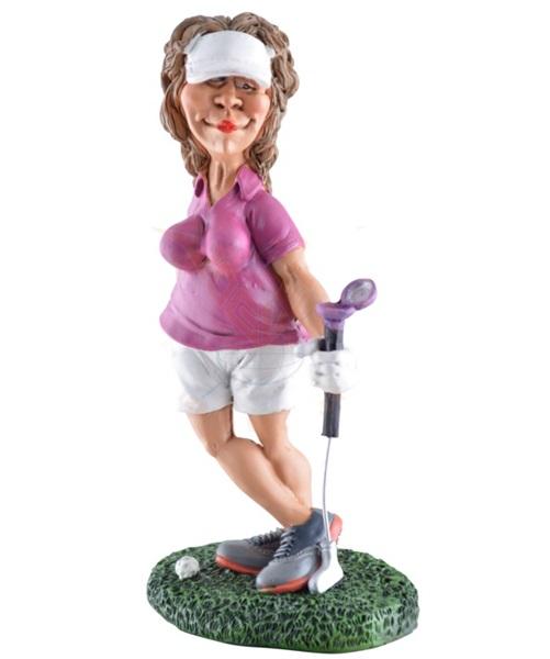 Funny World golfozónő figura, 815-9019