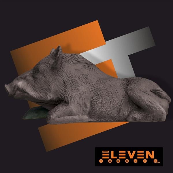Eleven 3D cél, fekvő vadkan, E47