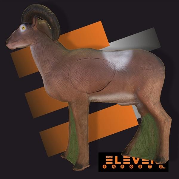 Eleven 3D cél, muflon cserélhető betéttel, E12