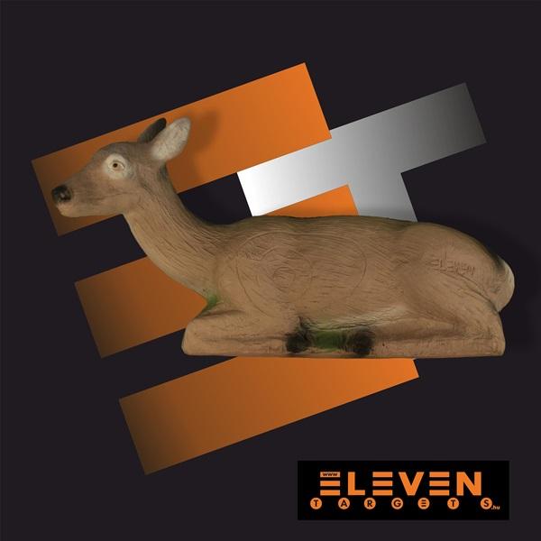 Eleven 3D cél, fekvő őz, E13A