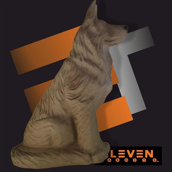 Eleven 3D cél, ülő farkas, E29