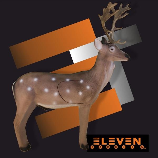 Eleven 3D cél, dámszarvas cserélhető betéttel, E30