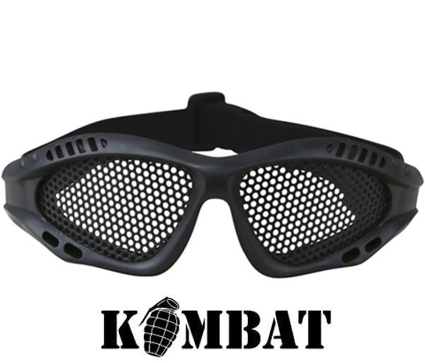 Kombat airsoft szemüveg, rácsos, fekete