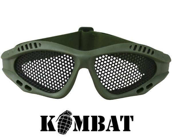 Kombat airsoft szemüveg, rácsos, olív