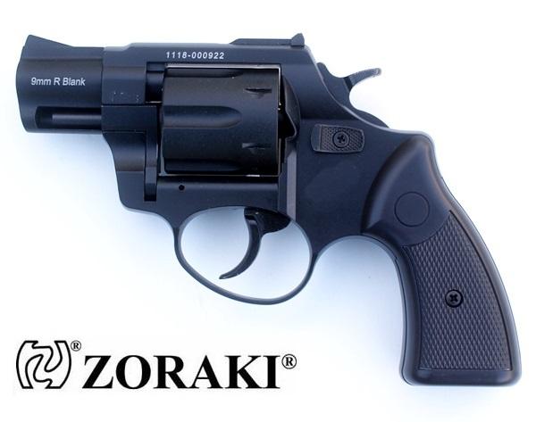 """Zoraki R1 forgótáras gázpisztoly, 9 mm, fekete, 2"""" cső"""