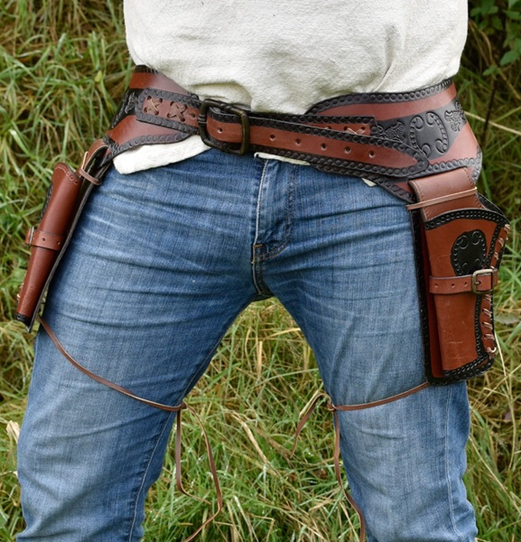 Western pisztolytok, bőr, dupla, 161600054