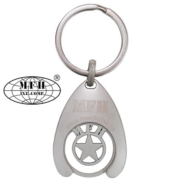 MFH kulcstartó bevásárlókocsi érmével, 92211