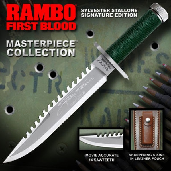 Rambo First Blood 1 Knife, Masterpiece Stallone Signature Edition, 40471