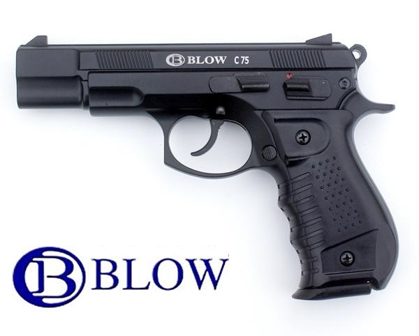 Blow C75 gázpisztoly, 9 mm, fekete