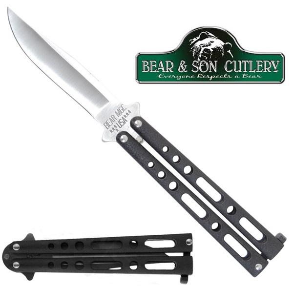 Bear&Son pillangókés, fekete, BC117B