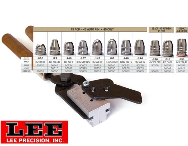 Lee öntőforma cal.45-ös pisztolylőszerekhez