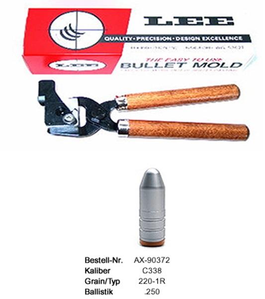 Lee öntőforma cal.338-as puskalőszerekhez
