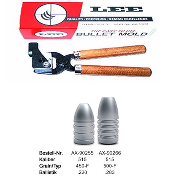 Lee öntőforma cal. 50/70 puskalőszerekhez