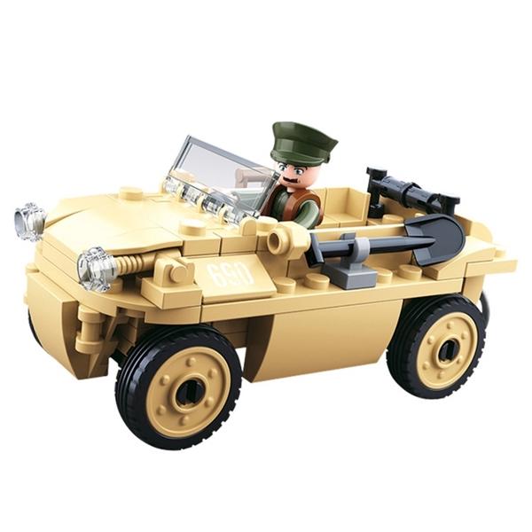Sluban II. világháborús német kétéltű jármű építőjáték, B0690