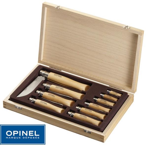 Opinel Inox Collector szett fa díszdobozban, 001211