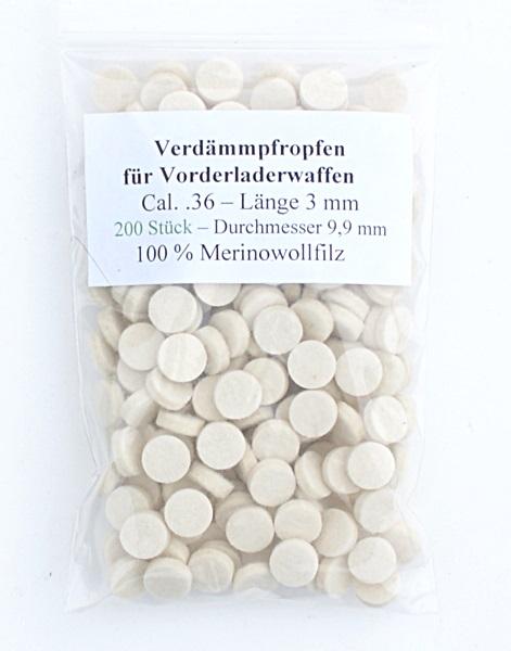 Filc korong, cal.36, 3 mm-es, 200 db