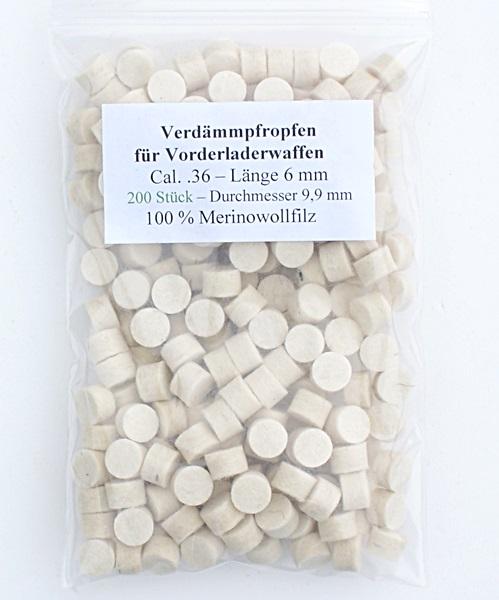 Filc korong, cal.36, 6 mm-es, 200 db