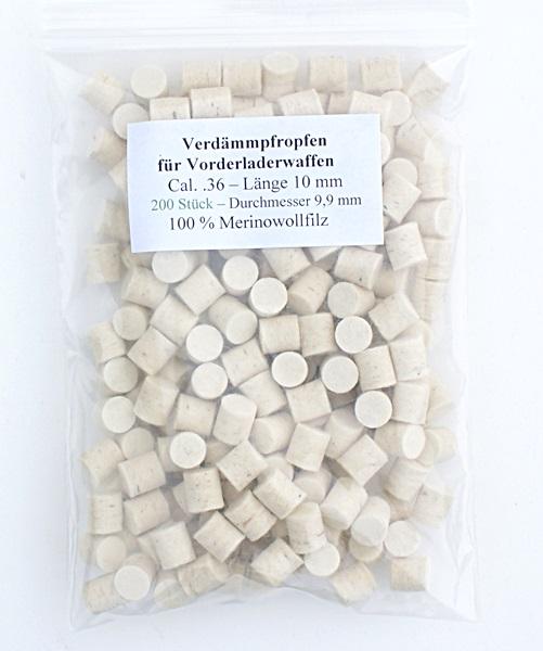 Filc korong, cal.36, 10 mm-es, 200 db