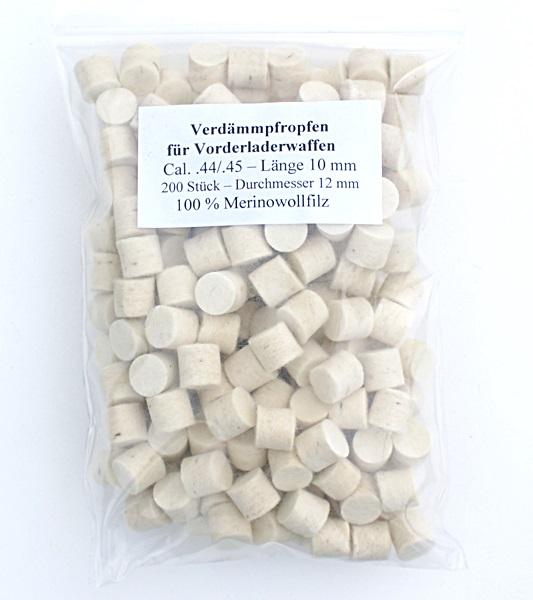 Filc korong, cal.44/45, 10 mm-es, 200 db