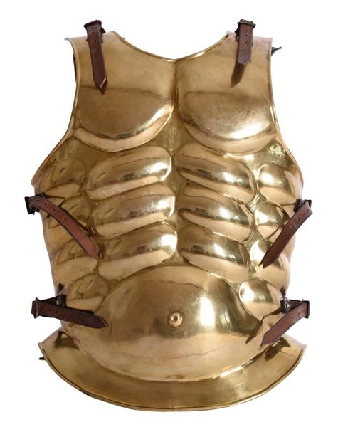 "Görög testpáncél ""Muscle"", réz, 1016607101"