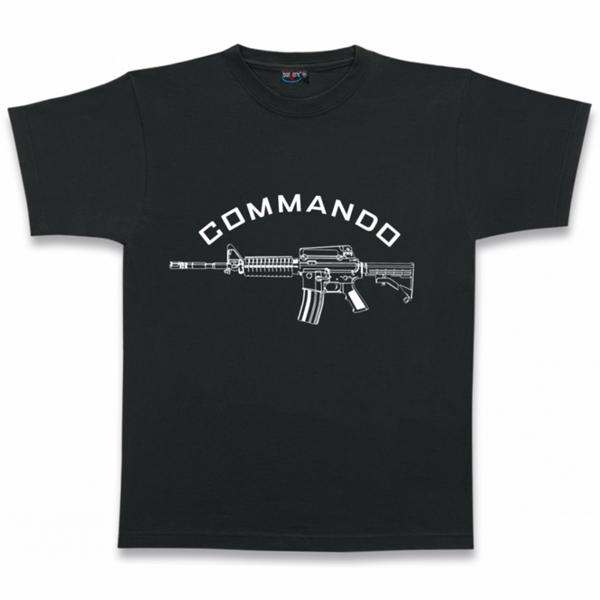 "Barbaric ""Commando"" póló, fekete"