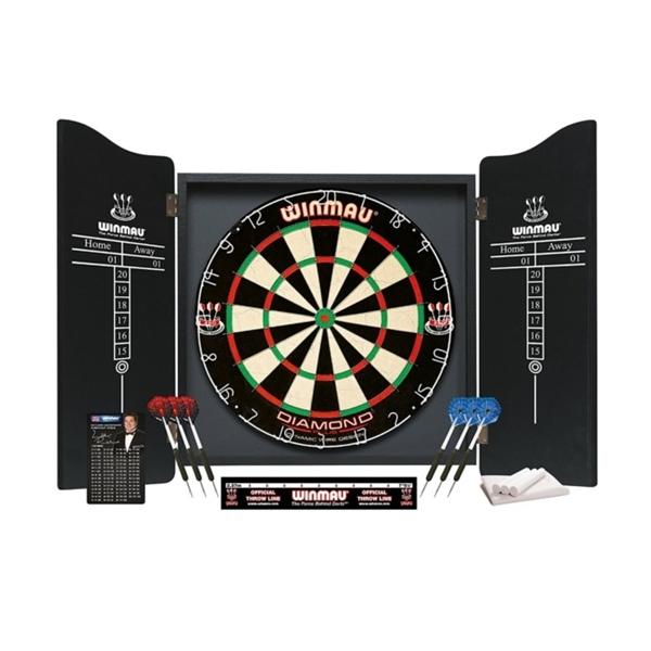 Winmau Professional darts szett, tábla szekrénnyel, WI5000B
