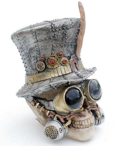 Steampunk koponya cilinderrel, 839-1184