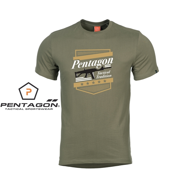 Pentagon A.C.R. taktikai póló, olív, K09012