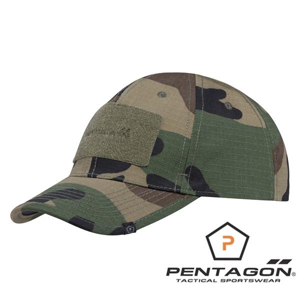 Pentagon Taktikai Baseball sapka, woodland, K13025