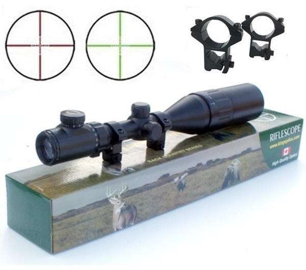 Boshirem Field Target fegyvertávcső, 4-16x44, világítós szálkereszt, parallax