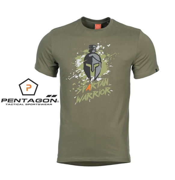 Pentagon Spartan Warrior taktikai póló, olív, K09012