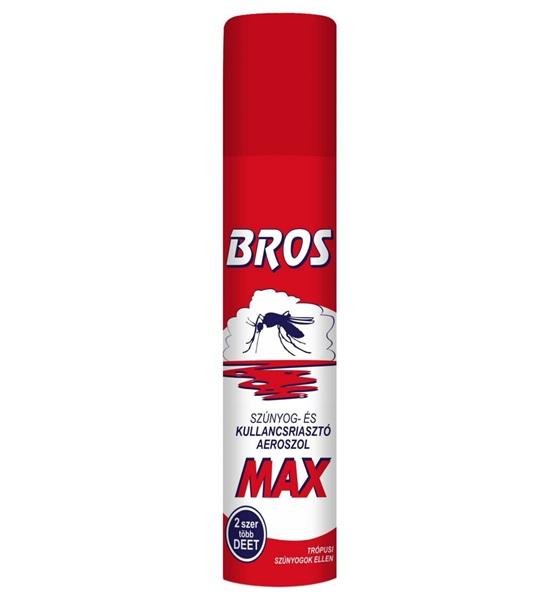 BROS MAX szúnyog és kullancsriasztó aeroszol, 90ml
