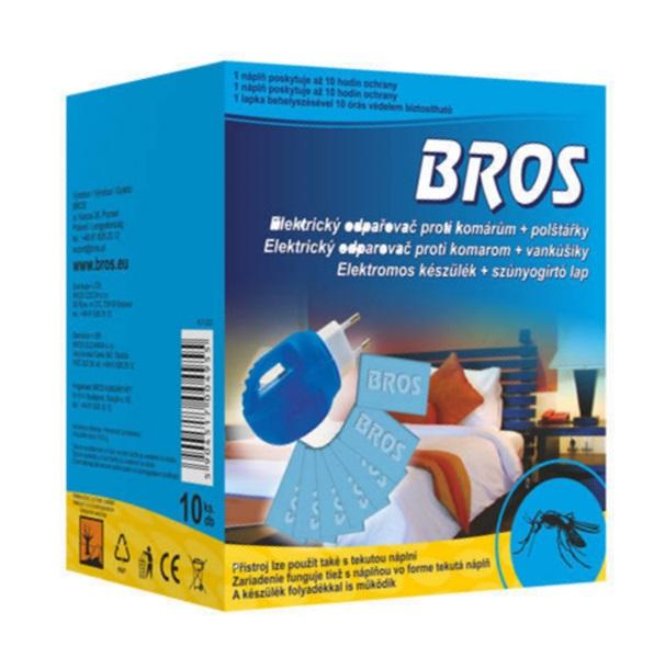 BROS beltéri szúnyogirtó elektromos készülék + 10 db lapka